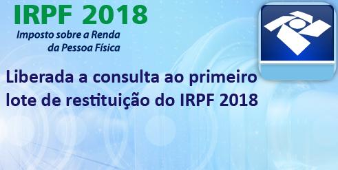 RECEITA ABRE CONSULTA A LOTE DE RESTITUIÇÃO DO IRPF