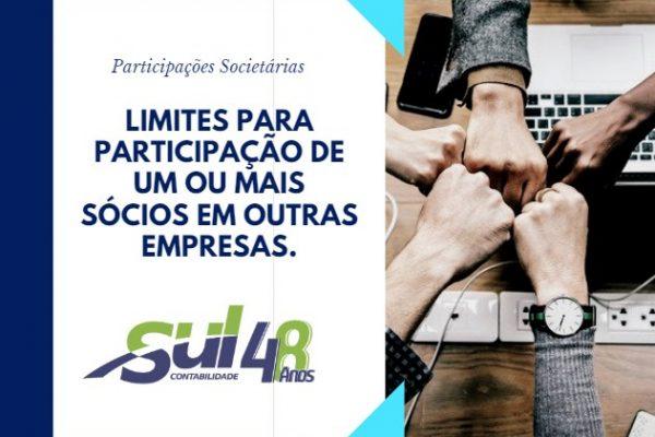 Participações Societárias – Limites para participação de um ou mais sócios em outras empresas.