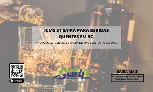Bebidas quentes são excluídas do ICMS/ST SC.