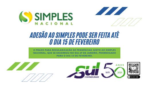 ADESÃO AO SIMPLES PODE SER FEITA ATÉ O DIA 15 DE FEVEREIRO